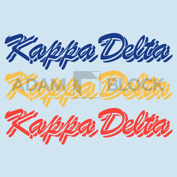 Kappa Delta Primary Script Tee-#originals-Adam Block Design