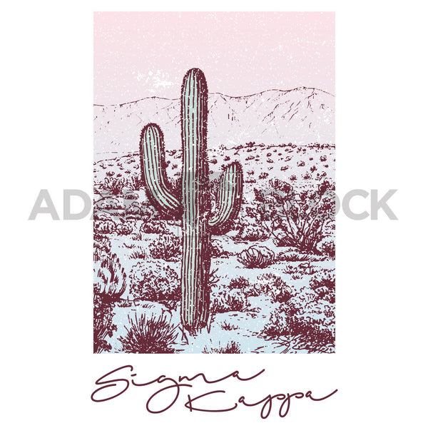 Sigma Kappa Desert Scene Tee-#originals-Adam Block Design