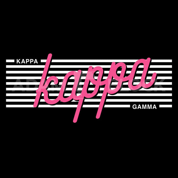 Kappa Kappa Gamma Stripes Vneck-#originals-Adam Block Design