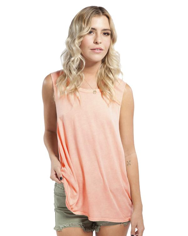 ABD Peach Acid Washed Muscle Tank-Adam Block Design