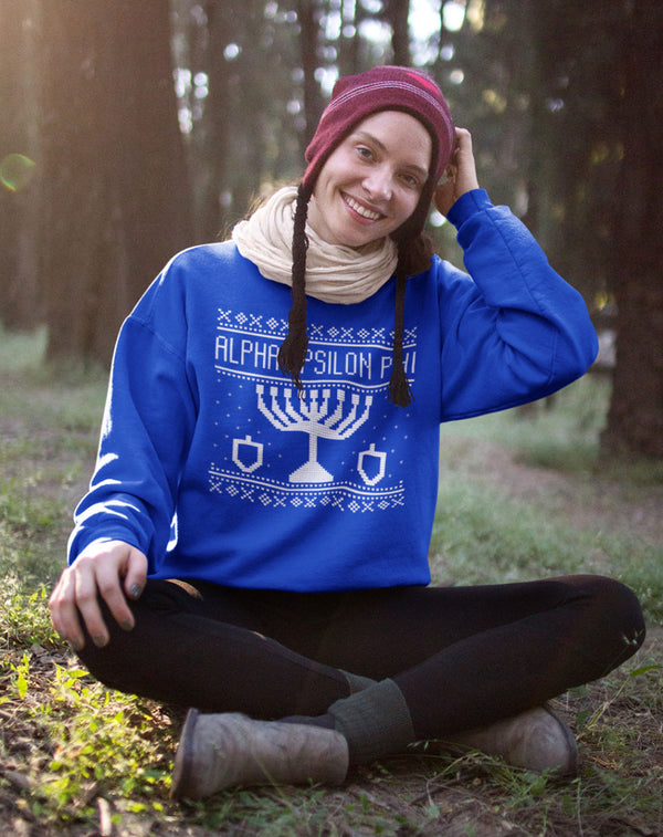 Alpha Epsilon Phi Hanukkah Sweatshirt-Adam Block Design