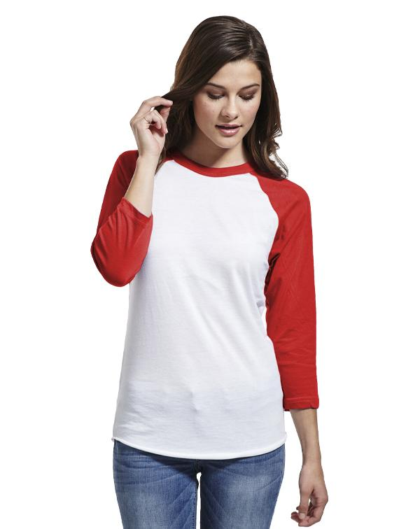 American Apparel Raglan Three Quarter-Sleeve T-Shirt-blank-Adam Block Design