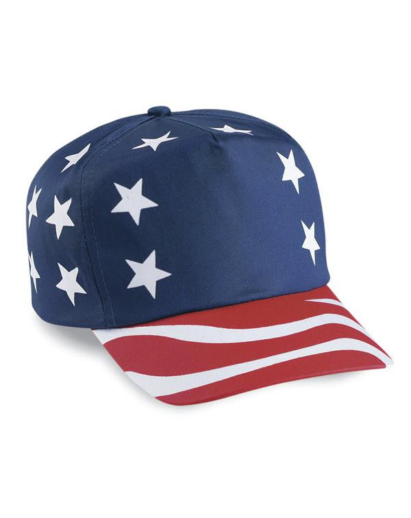 USA Flag Cap-blank-Adam Block Design