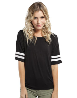 ABD Flowy Striped Sleeve Tee-Adam Block Design