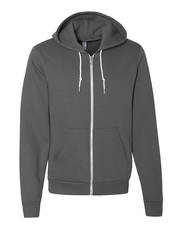 American Apparel Flex Fleece Unisex Full-Zip-Adam Block Design