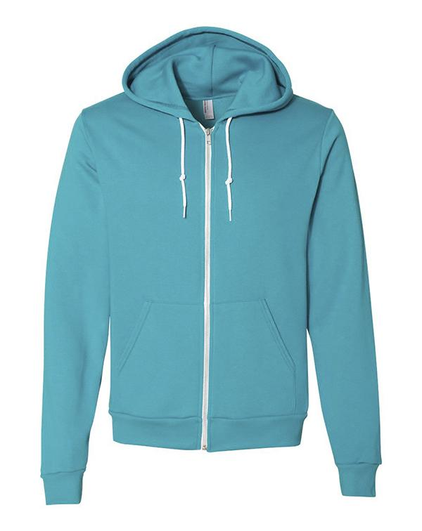 American Apparel Flex Fleece Unisex Full-Zip-blank-Adam Block Design