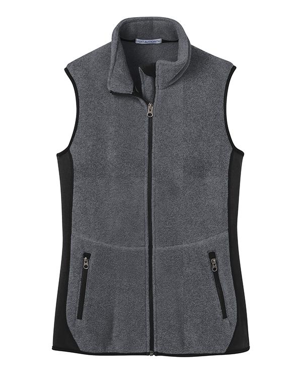 Port Authority Ladies Fleece Full-Zip Vest-blank-Adam Block Design