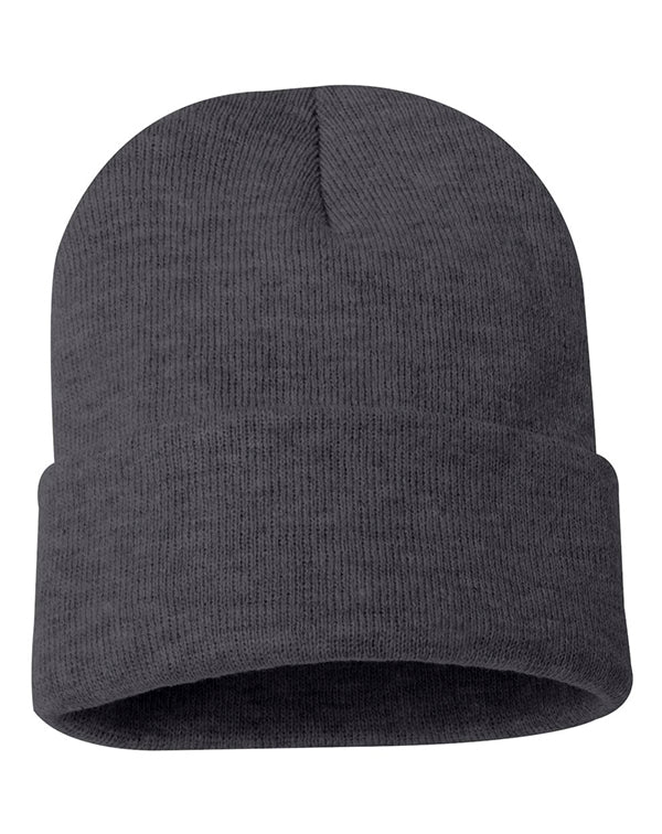 "Sportsman 12"" Solid Knit Beanie-blank-Adam Block Design"