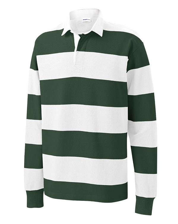 Sport-Tek Classic Long Sleeve Rugby Polo-Adam Block Design