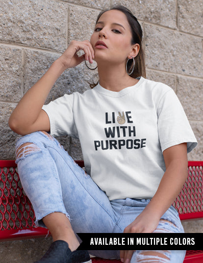 Live With Purpose Tee-Adam Block Design