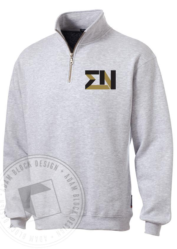 Sigma Nu Half-Zip-Adam Block Design
