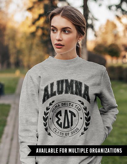 Alumna Letters Sweatshirt-Adam Block Design