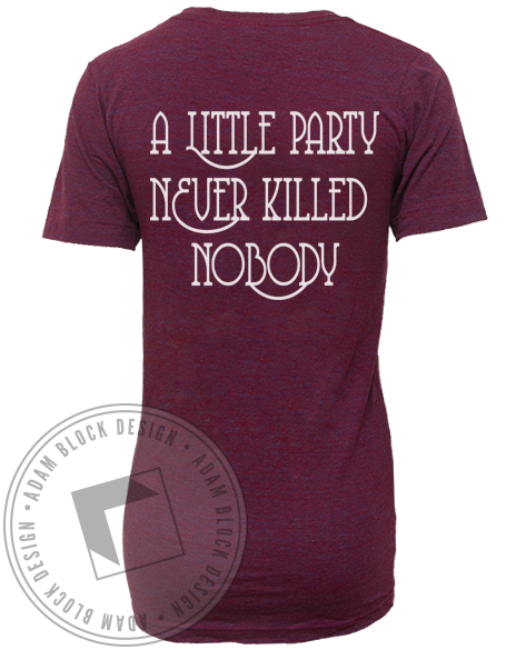 A Little Party Vneck-Adam Block Design