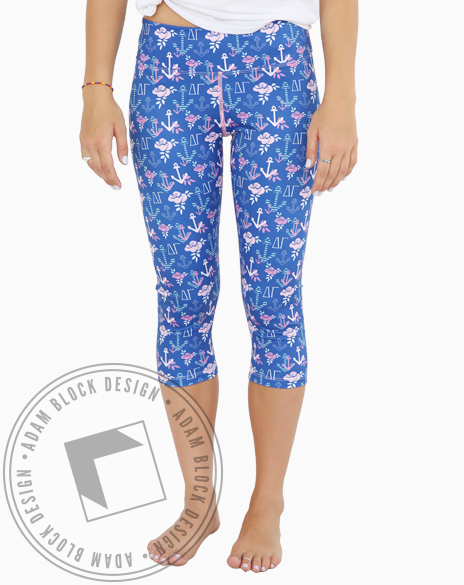All-Over Print Cropped Pants-Adam Block Design