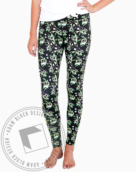 All Over Print Leggings-Adam Block Design
