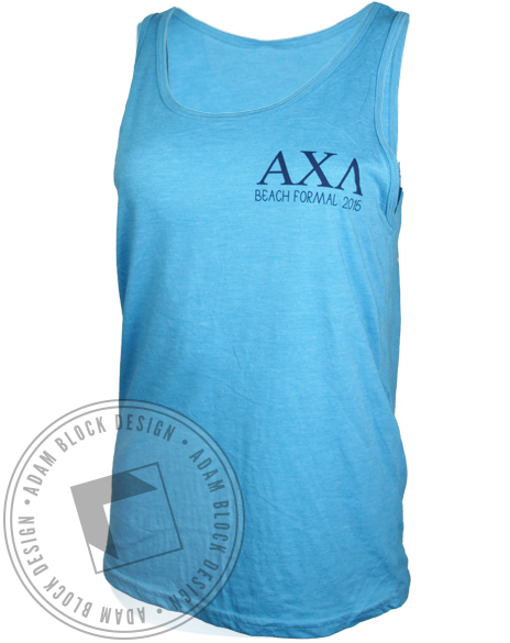 Alpha Chi Lambda Beach Formal Tank Top-Adam Block Design