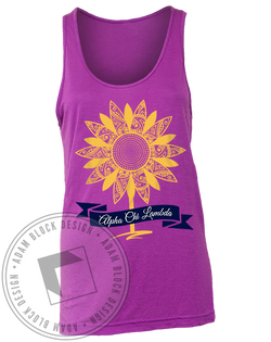 Alpha Chi Lambda Sunflower Tank-Adam Block Design