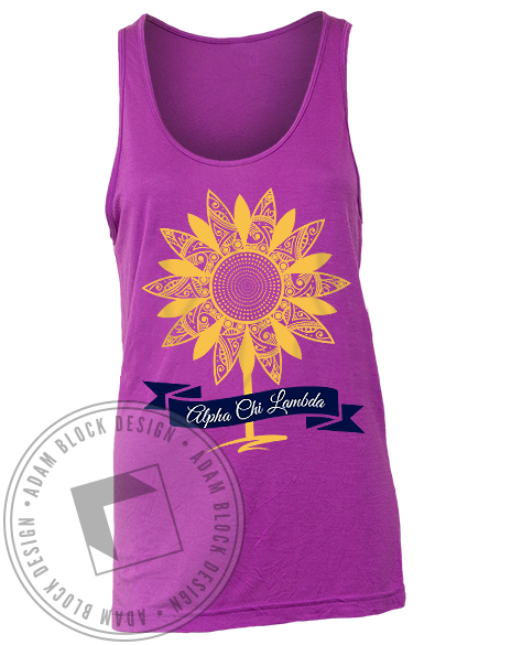 Alpha Chi Lambda Sunflower Tank-gallery-Adam Block Design