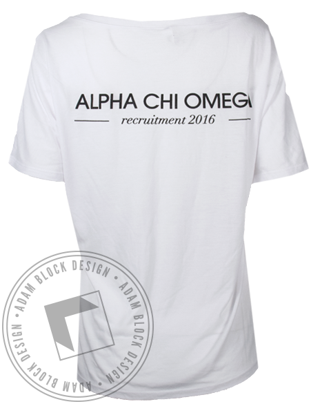 Alpha Chi Omega 2016 Recruitment Tshirt-gallery-Adam Block Design
