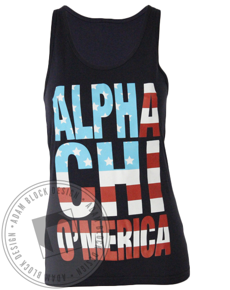Alpha Chi Omega America Strong Best Tank Top-Adam Block Design