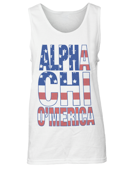 Alpha Chi Omega America Tank Top-Adam Block Design