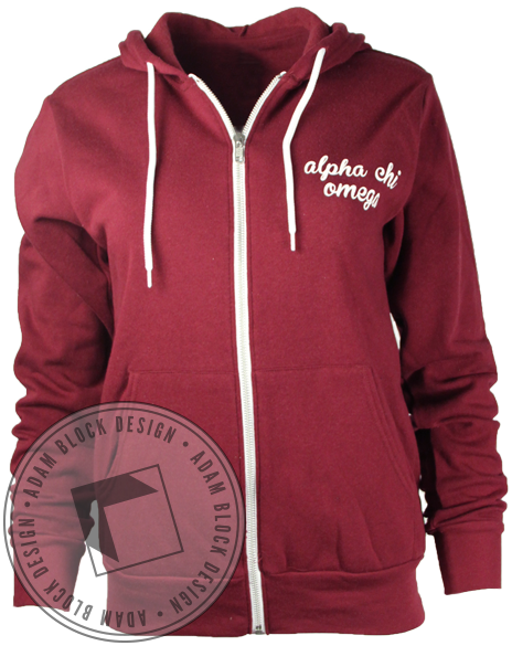 Alpha Chi Omega Beauty Zip Up-Adam Block Design
