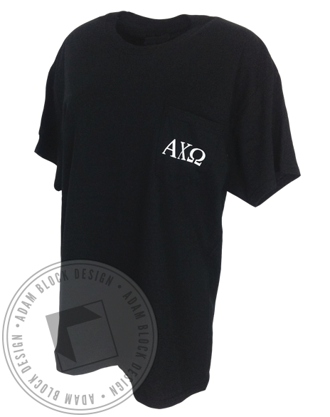 Alpha Chi Omega Best Kind Of Father Tee Shirt-Adam Block Design