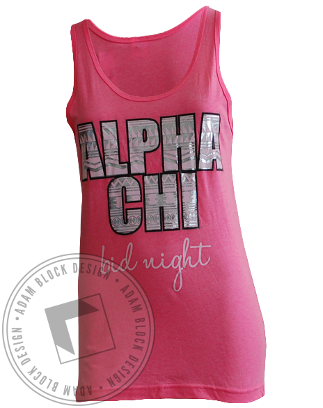 Alpha Chi Omega Bid Day Family Tank Top-Adam Block Design