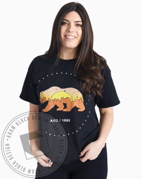 Alpha Chi Omega California Bear T-Shirt-Adam Block Design