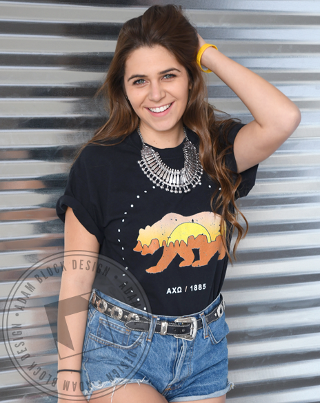 Alpha Chi Omega California Bear T-Shirt-gallery-Adam Block Design