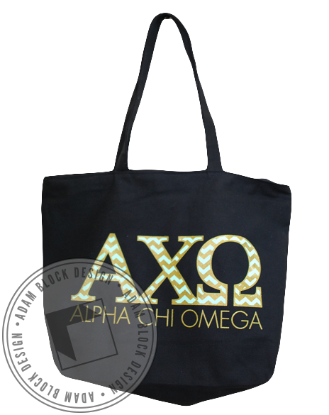 Alpha Chi Omega Chevron Tote-gallery-Adam Block Design