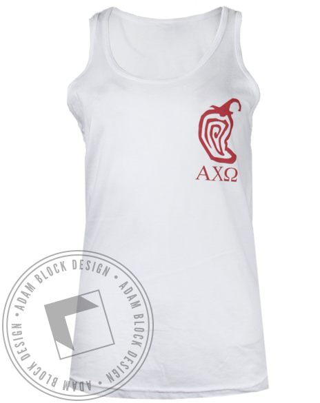Alpha Chi Omega Chili Tank Top-gallery-Adam Block Design