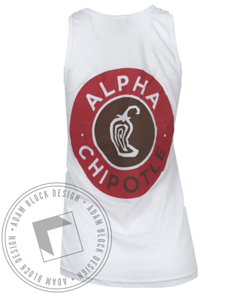 Alpha Chi Omega Chili Tank Top-Adam Block Design