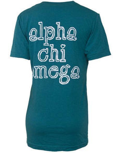 Alpha Chi Omega Crest V-Neck-gallery-Adam Block Design