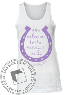 Alpha Chi Omega Derby Tank Top-Adam Block Design