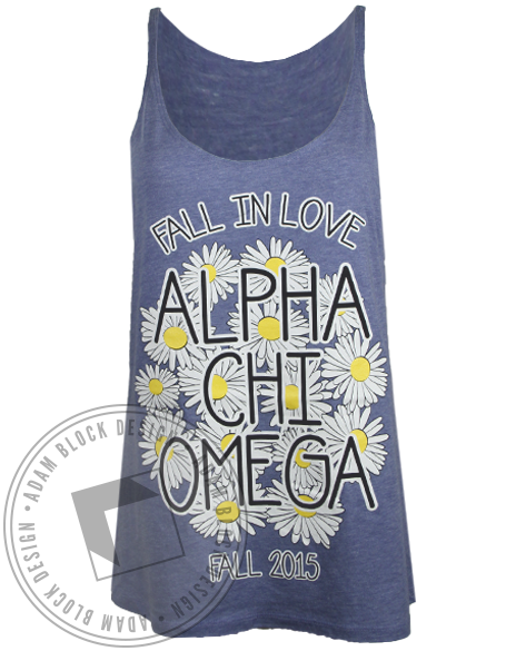 Alpha Chi Omega Fall in Love Tank Top-gallery-Adam Block Design