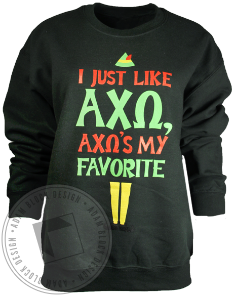Alpha Chi Omega Favorite Sweatshirt-Adam Block Design