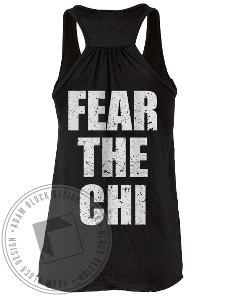 Alpha Chi Omega Fear Tank Top-Adam Block Design