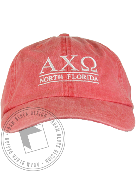 Alpha Chi Omega Florida Baseball Cap-Adam Block Design