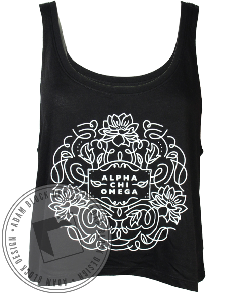 Alpha Chi Omega Flowers Tank-Adam Block Design