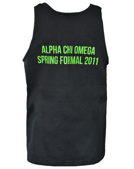 Alpha Chi Omega Guy Tank Top-Adam Block Design