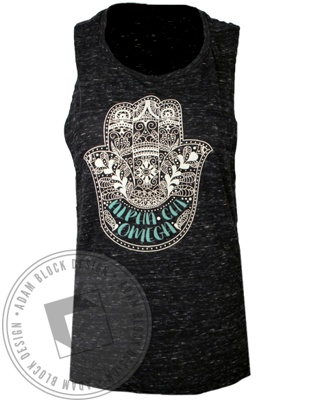 Alpha Chi Omega Hamsa Worthy Tank Top-gallery-Adam Block Design