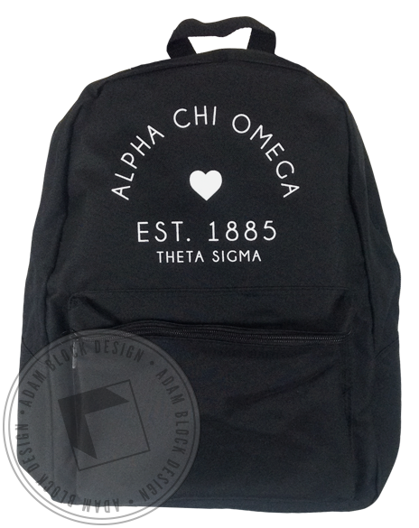 Alpha Chi Omega Heart Backpack-gallery-Adam Block Design