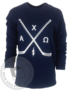 Alpha Chi Omega Hockey Long Sleeve-Adam Block Design