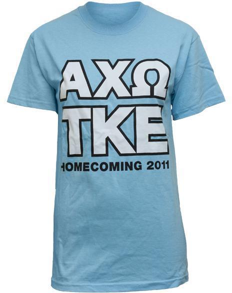 Alpha Chi Omega Knockout Tee Shirt-Adam Block Design