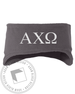 Alpha Chi Omega Letter Headband-Adam Block Design