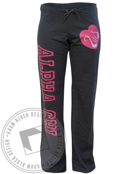Alpha Chi Omega Love Sweatpants-Adam Block Design