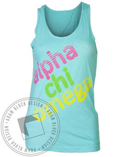 Alpha Chi Omega Lovin' The Bond Tank Top-Adam Block Design