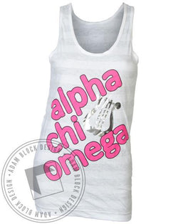 Alpha Chi Omega Lyre Tank-gallery-Adam Block Design