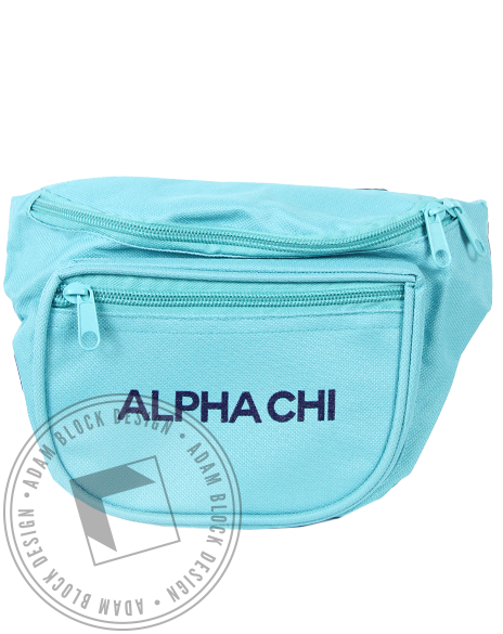 Alpha Chi Omega Mint Fannypack-gallery-Adam Block Design